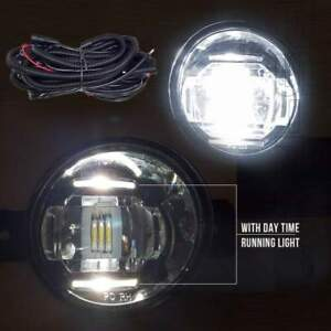 Fit 2012 2013 Toyota Prius C Clear Lens Led Fog Light Kit W Switch relay