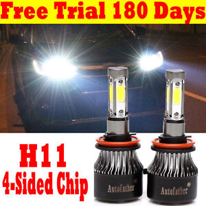 H11 Led Headlight Bulbs Beam For Chevrolet Silverado 2500 3500hd 2012 2013 2015