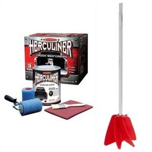Herculiner Truck Brush On Bedliner Kit Paint Mixer Drill Attachment