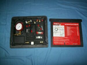 Snap On Eefi500a Master Fuel Injection Pressure Gauge Testing Kit Set N Case Exc