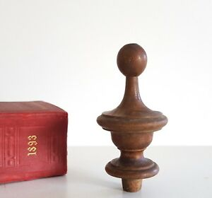 Antique Turned Wood Finial Architectural Salvage Furniture Restoration 3 43