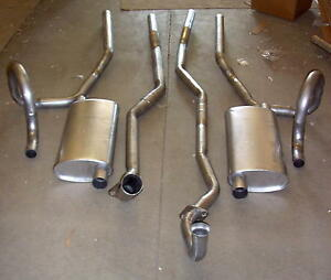 1967 Oldsmobile Cutlass F 85 Dual Exhaust Aluminized With 400 Engines 2 Bbl