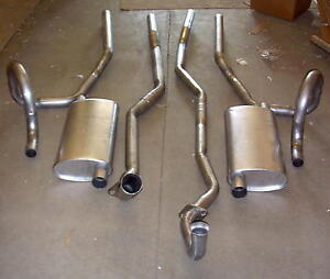 1969 Oldsmobile 442 Dual Exhaust System Aluminized With 400 Engines