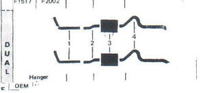 1972 1974 Amx Javelin Dual Exhaust System Aluminized