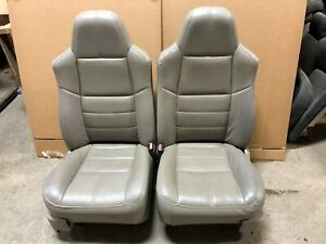 Ford F250 F350 Super Duty Truck Crewcab Front Leather Bucket Seats W Heat