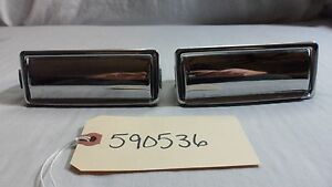 1959 Pontiac Star Chief Ashtrays Pair