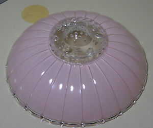 Vintage 11 5 Mid Century Modern Pink Frosted Glass Ceiling Light Fixture Shade