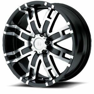 4 New 20x9 18 Helo He835 Gloss Black Machined 8x165 1 Wheels Rims