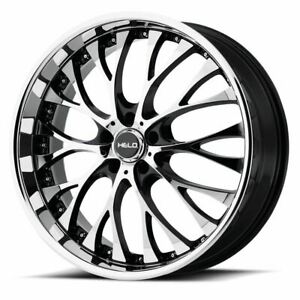 4 New 20x8 5 35 Helo He890 Gloss Black With Machined Face 5x112 Wheels Rims