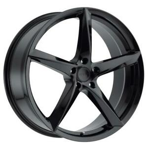 18x8 40 Mkw M120 Full Satin Black Wheels Rims 5x120 Qty 4