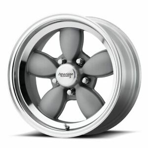 4 New 17x7 0 American Racing Vn504 Mag Gray W Mirror Lip 5x120 65 Wheels Rims