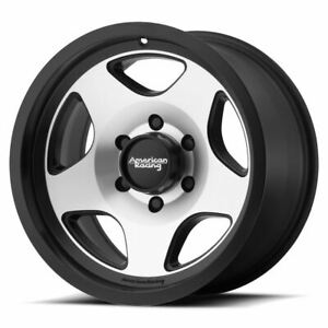 4 New 17x8 0 American Racing Mod 12 Satin Black Machined 5x139 7 Wheels Rims