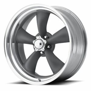 4 New 17x8 8 American Racing Classic Torq Thrust Ii Gray 5x114 3 Wheels Rims