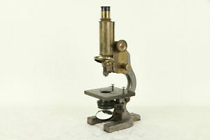 Victorian Brass Iron Antique English Microscope Hawksley London 30886