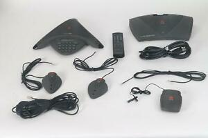 Polycom Soundstation Premier Ex Satellite Bundle 2x Mics Lapel Mic