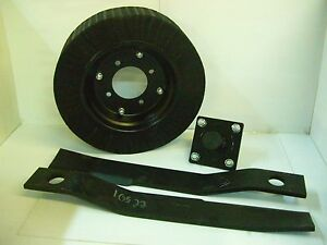 Tail Wheel Hub 2 4 Rotary Cutter Blades 17 1 4 New Brush Hog Replacement