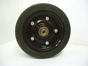 Mower Tire Wheel Assembly Finish More Diameter X 3 Thick 1 2 Shaft Bearing