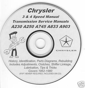 Chrysler Mopar A230 A250 A745 A833 A903 Four 4 Speed