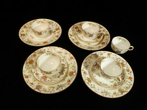 Kansas City History Signed Set Of Royal Worcester Cups Saucers Circa 1912