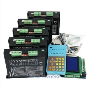 Cnc Kit Pro 5 Axis With Keypad Display Ema2 080a72 Stepper Drivers For Nema34