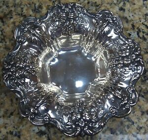Reed Barton Sterling Silver Bowl X569 8 High Repousse 9 8 Ozt Z Xm