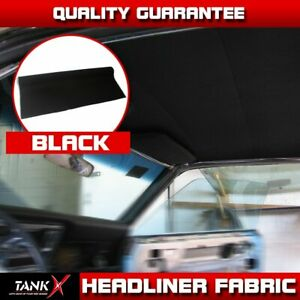 100 x60 Replace Sagging Car Auto Black Headliner Fabric Upholstery Foam Backed