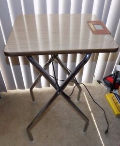 Vintage Logan Show King Folding Projector Table W Auxiliary Outlets