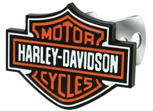 New Harley Davidson Trailer Tow Hitch Cover Plug With 3d Colored Bar And Shield