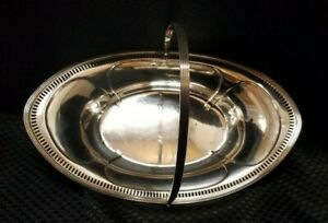 Sterling Bread Basket With Handle P945
