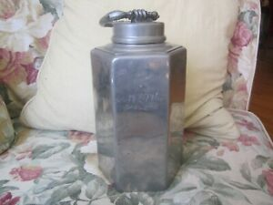 Antique German Pewter Hallmarked Dated 1820 Wine Water Container 10in Tall