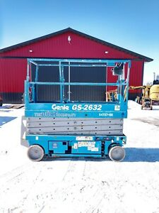 Genie Gs 2632 26 Electric Scissor Lift Aerial Manlift Platform Gs2632