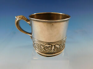 Hizen By Gorham Sterling Silver Child S Cup With Turtle Fish Border 0439
