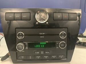 2006 2009 Ford Fusion Mercury Milan Am Fm Radio 6 Disc Cd Aux Mp3 With Clock Oem