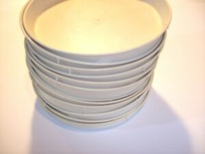 12 High Temp Plastic Restaurant Cafeteria Food Service Plates