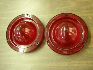 Oem Ford 1962 Fairlane Tail Light Lamp Lenses Pair New Take Outs