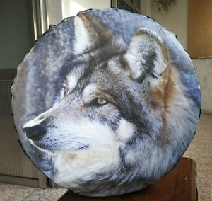 Spare Tire Wheel Soft Cover With 3d Wolf For Jeep Toyota Dodge 31 32 33