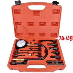 Tu 15b Diesel Engine Compression Tester Test Set Kit Auto Tractor Semi Diagnosis
