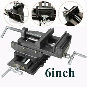 Heavy Duty 6 Cross Drill Press Vise 2 Way X y Slide Metal Milling Clamp Tool Re