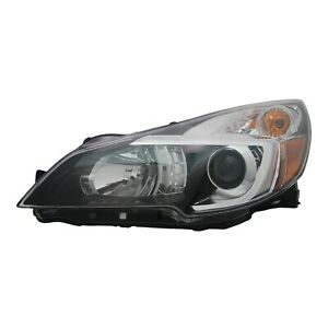 For 2013 2014 Nsf Subaru Legacy Lh Left Driver Headlamp Headlight Black