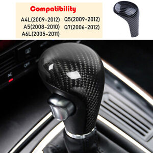 Carbon Fiber Gear Shift Knob Trim Cover For Audi A4 Q5 2009 2012 A6 2005 2011