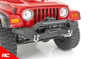 Rough Country Front Winch Bumper W Led fits 1987 2006 Jeep Wrangler Tj Yj