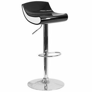 Flash Furniture Contemporary Adjustable Height Plastic Barstool With Chrome Base