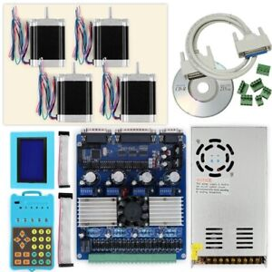 Cnc Professional 4axis Tb6560 Stepper Driver Full Kit Motor psu keypad display