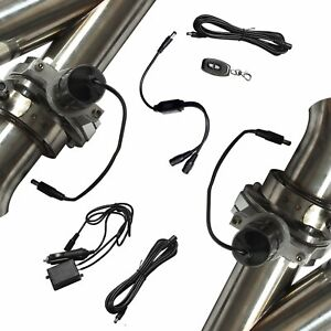 2 5 Inch Remote Control Y Header Catback Pair Electric Exhaust Cutout Pipe Kits