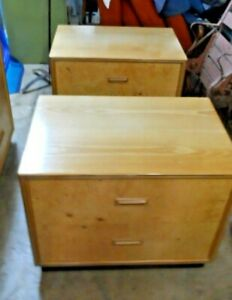 Henredon 7 Drawer Dresser And Two Night Stands Olive Burl Scene Two