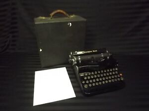 Antique 1934 Remington Rand Model 1 Portable Typewriter Working In Case Deco