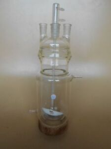 Used Lab Glass Reaction Vessel 4000 Ml Jacketed Plus Options