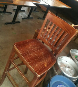 Barstools Solid Wood Stool W Foot Rest For Restaurant Or Bar
