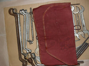 Mercedes Benz Vintage Hazet Automobile Tool Kit In Tool Kit Roll