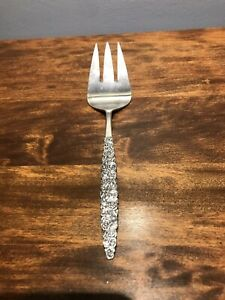 Rogers Bro Floral Bouquet Aka Silver Bouquet 1960 Silver Plate Meat Fork